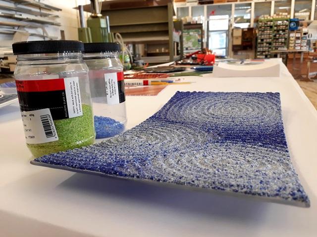 Glaskunst – Schale mit Relief