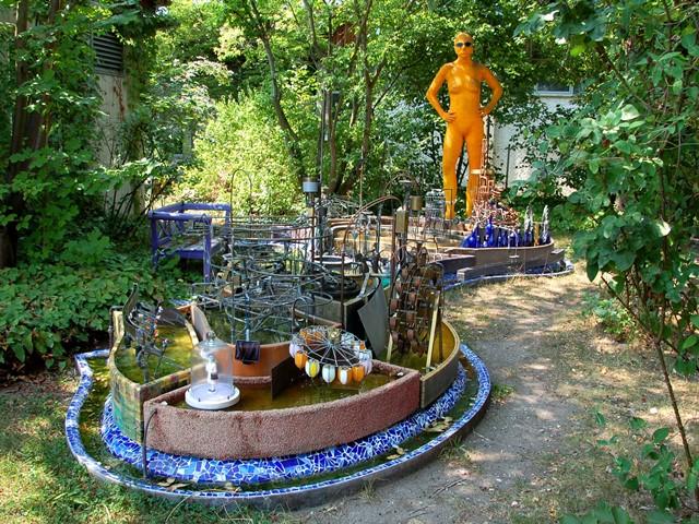 Wasserspiel – kinetisches Schauspiel im Garten